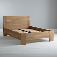 Buy Ethnicraft Azur Bedstead, Oak, Double Online at johnlewis.com