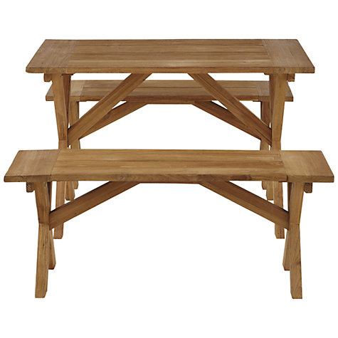 Buy John Lewis Java Reclaimed Teak Garden Bench, L120cm Online at johnlewis.com