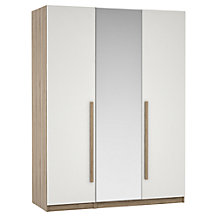 House by John Lewis Mixit Block Handle Bedroom Range, Gloss White/Grey Ash