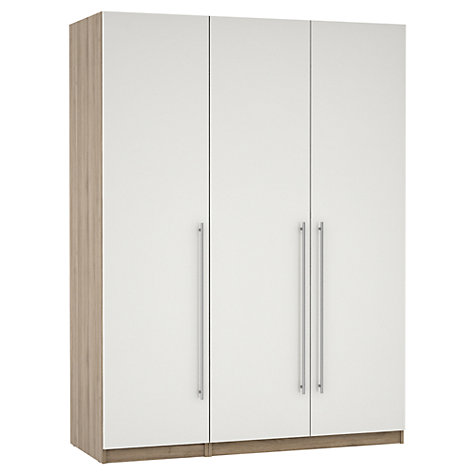 Buy House by John Lewis Mix it T-bar Bedroom Range, Gloss Grey/Natural Oak Online at johnlewis.com