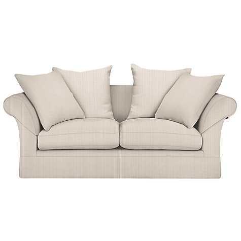 Buy John Lewis Chambery Fixed Cover Sofa Range, Berlin Stripe Crimson Red Online at johnlewis.com