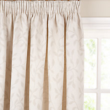 Buy John Lewis Leaf Trail Pencil Pleat Curtains, Stone Online at johnlewis.com