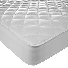 Buy John Lewis New Pure Cotton Quilted Mattress Enhancer, Depth 32cm Online at johnlewis.com