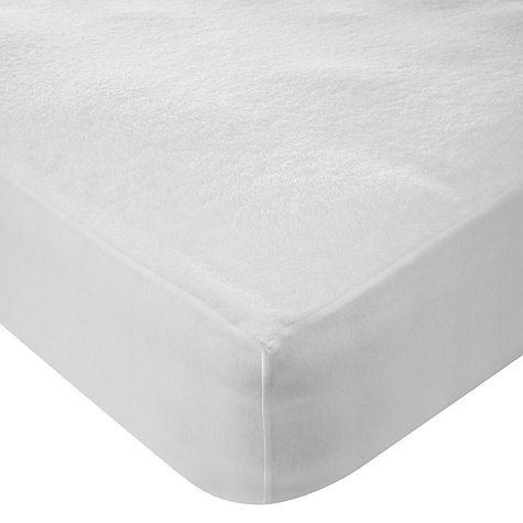 Buy John Lewis New Waterproof Towelling Mattress Protector Online at johnlewis.com