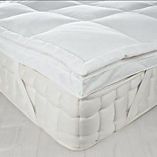 Buy John Lewis New Goose Down Dual Layer Mattress Topper Online at johnlewis.com
