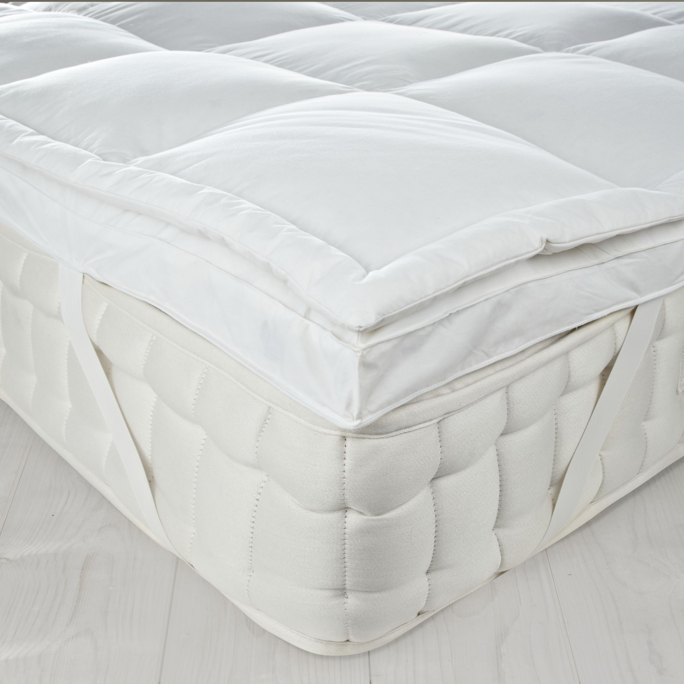 John Lewis New Goose Down Dual Layer Mattress Topper