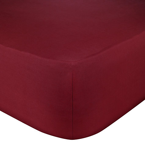 Buy John Lewis Easycare Polycotton Deep Fitted Sheets Online at johnlewis.com