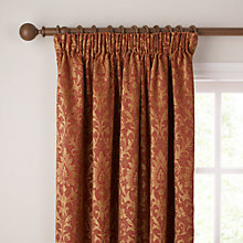 Buy John Lewis Kensington Pencil Pleat Curtains, Red Online at johnlewis.com