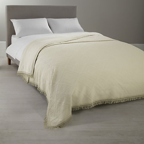 Buy John Lewis City Bedspread, Ecru Online at johnlewis.com