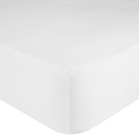 buy john lewis warm cosy brushed cotton fitted sheet. Black Bedroom Furniture Sets. Home Design Ideas