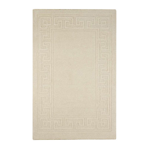 Buy Madras Greek Key Rugs, Cream Online at johnlewis.com