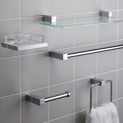 Buy John Lewis Ice Toilet Roll Holder, Stainless Steel Online at johnlewis.com