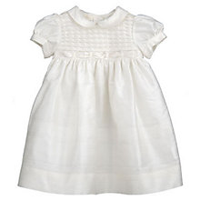 Buy John Lewis Baby Girls Silk Christening Dress Online at johnlewis.com