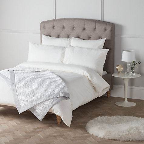 buy john lewis strada cotton bedding oyster john lewis. Black Bedroom Furniture Sets. Home Design Ideas