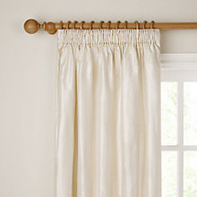 Buy John Lewis Plain Silk Pencil Pleat Curtains, Ivory, Pair Online at johnlewis.com
