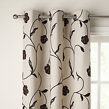 Buy John Lewis Sarah Eyelet Curtains, Chocolate Online at johnlewis.com