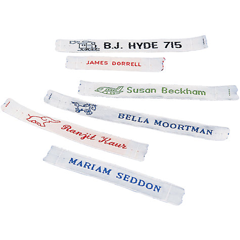 Buy Cash's Name Tapes Order Form Pack Online at johnlewis.com