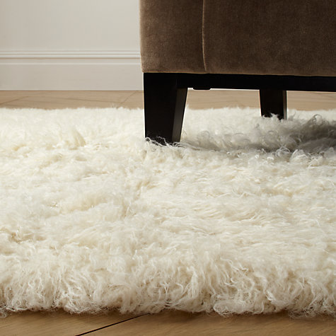 Buy John Lewis Flokati Rugs, Natural Online at johnlewis.com