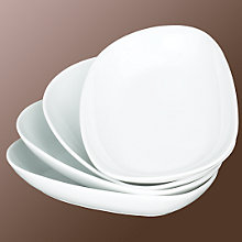 Buy John Lewis Isola Plates, White Online at johnlewis.com