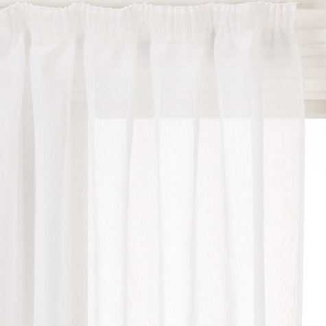 Buy John Lewis Crushed Voile Tape Top Panel, White Online at johnlewis.com