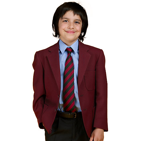Buy John Lewis Boys' Blazer, Maroon Online at johnlewis.com