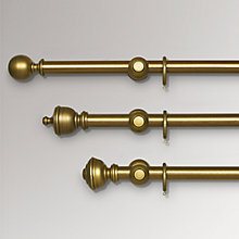 Buy John Lewis Antiqued Gilt Curtain Poles, Dia.35mm Online at johnlewis.com