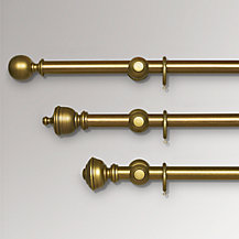 John Lewis Antiqued Gilt Curtain Poles, Dia.35mm