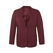 Buy John Lewis Girls' Blazer, Maroon Online at johnlewis.com