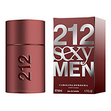Buy Carolina Herrera 212 Sexy Men Eau de Toilette Online at johnlewis.com