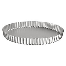 Buy John Lewis Satin Hard Anodised Continental Flan Tin Online at johnlewis.com