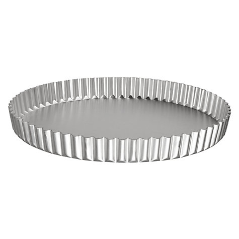 Buy John Lewis Satin Anodised Continental Flan Tin Online at johnlewis.com