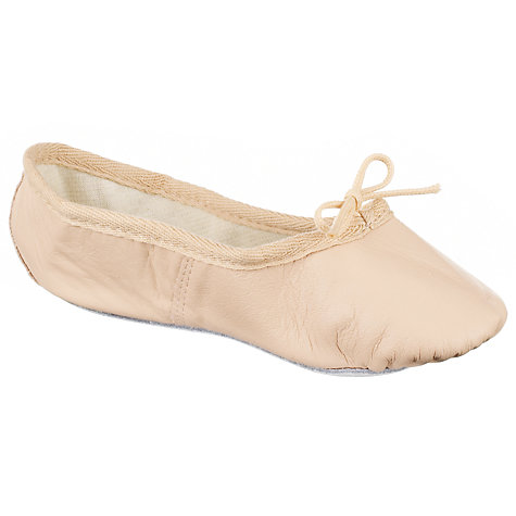 Buy John Lewis Girl Leather Ballet Shoes, Salmon Online at johnlewis.com