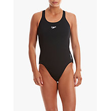 Buy Speedo Endurance+ Medalist Swimsuit, Black Online at johnlewis.com