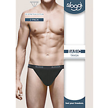 Buy Sloggi Tanga Briefs, Pack of 2, Black Online at johnlewis.com