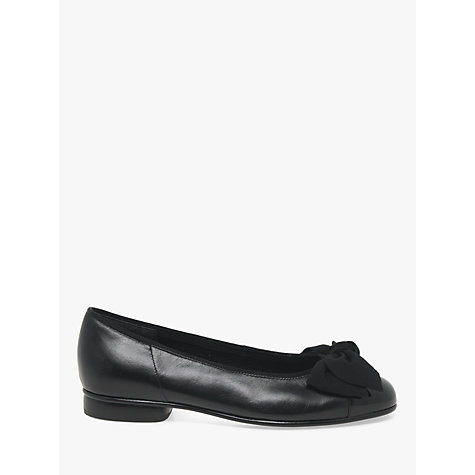 Buy Gabor Amy Ballerina Pumps, Black Online at johnlewis.com