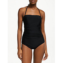 Buy John Lewis Control Bandeau Swimsuit, Black Online at johnlewis.com