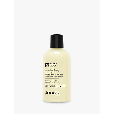 Buy Philosophy Purity Made Simple One-Step Facial Cleanser Online at johnlewis.com