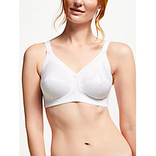 Buy Triumph Doreen Cotton Non Wired Bra, White Online at johnlewis.com