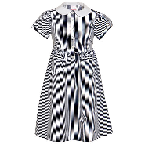 Buy John Lewis School Striped Summer Dress, Navy Online at johnlewis.com