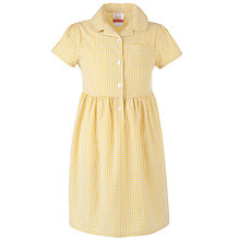 Buy John Lewis Belted Summer School Dress, Yellow Online at johnlewis.com