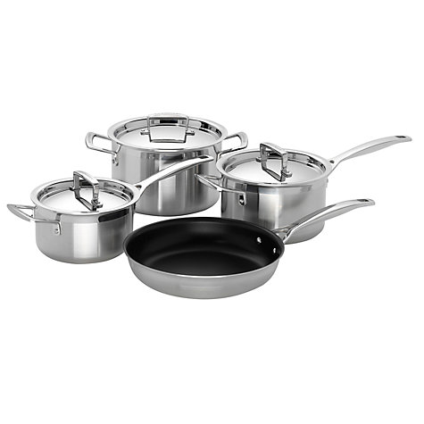 buy le creuset 3 ply stainless steel cookware john lewis. Black Bedroom Furniture Sets. Home Design Ideas