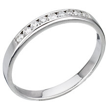 Buy EWA 18ct White Gold Diamond Half Eternity Ring Online at johnlewis.com