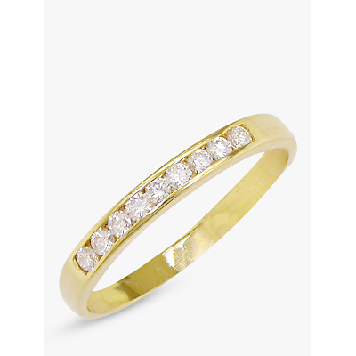 EWA 18ct Gold Diamond Half Eternity Ring