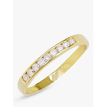 Buy EWA 18ct Gold 0.18ct Diamond Half Eternity Ring Online at johnlewis.com