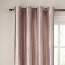 Buy John Lewis Montpellier Stripe Lined Eyelet Curtains, Taupe Online at johnlewis.com