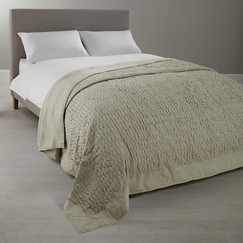 Buy John Lewis Cotton Pleats Bedspread Online at johnlewis.com