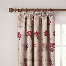 Buy John Lewis Juliana Pencil Pleat Curtains, Red Online at johnlewis.com