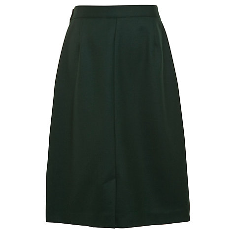 Buy Girls' Wool Mix Inverted Pleat School Skirt, Bottle Green Online at johnlewis.com