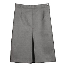 Buy Girls' Wool Mix Inverted Pleat School Skirt, Grey Online at johnlewis.com