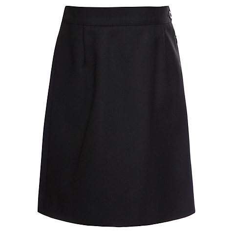 Buy Girls' School Wool Mix Pencil Skirt, Black Online at johnlewis.com